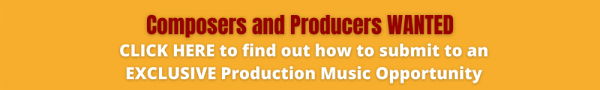 Exclusive Production Music Opportunity Banner